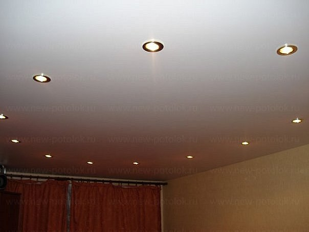 Ceiling with photographs of reflectors